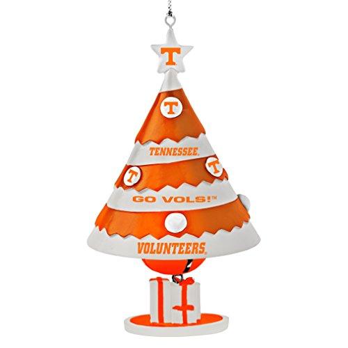 NCAA Tennessee Volunteers Tree Bell Ornament, Orange, 5″