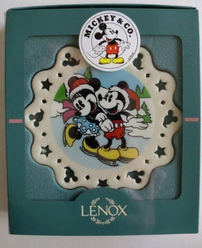 Lenox Disney Mickey and Minnie Mouse Ice Skating Ornament