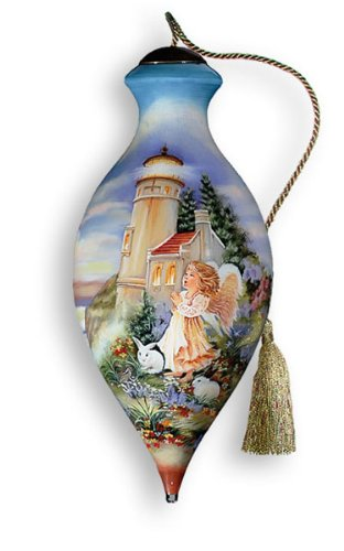 NEQWA Hand Painted Glass Ornament A Little Hope