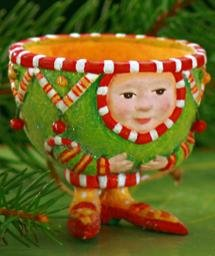 Patience Brewster Krinkles **Tea Cup Ornament** 09-30305