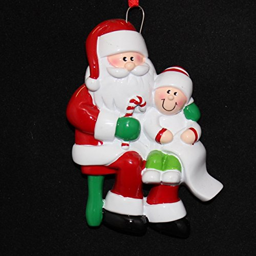 Personalized Santa Visit Noel Holiday Gift Expertly Handwritten Ornament