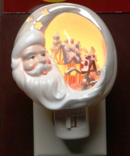 Appletree Design Santa Plug-In Night Light With House Scene, 3-3/4-Inch Tall