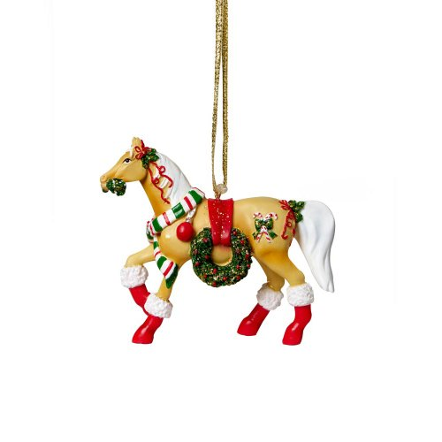 Trail of Painted Ponies Christmas Parade Pony Hanging Ornament with Tin 2.38-Inch