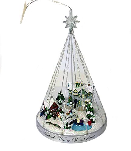 Retired Thomas Kinkade *Winter Wonderland* Sparkling Celebrations Illuminated Ornament Collection