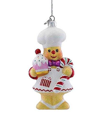 Kurt Adler Noble Gems Glass Gingerbread Chef Ornament