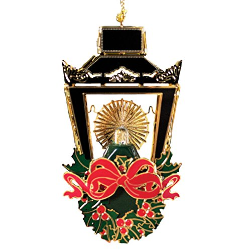 New 24K Gold Illuminated Christmas Lantern Christmas Tree Ornament