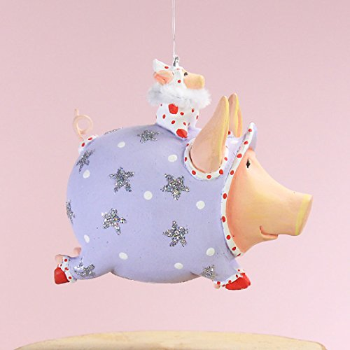 Patience Brewster Christmas Home Decor Mini Tinkerbelle Pig Ornament 31013