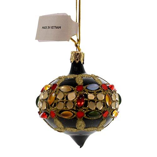 Christina's World BEJEWELLED MINIS Glass Ornament Stones Vet831 Onion