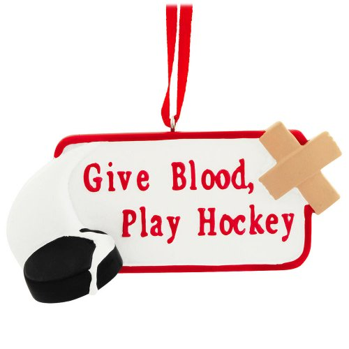 Give Blood, Play Hockey Player Christmas Tree Ornament By Midwest-cbk