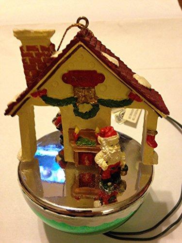Christmas Keepsakes SANTA's WORKSHOP Lrg Motion Holiday Ornament – New in Box!