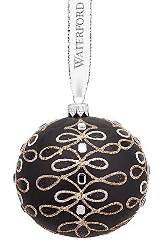 Waterford Studs and Scroll Ball Ornament