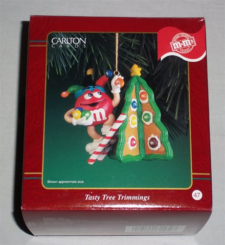 M&M's – Tasty Tree Trimmings – 1999 Carlton Cards Christmas Ornament