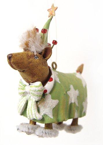 Department 56 Krinkles Mini Sleepy Dog Christmas Ornament #36600
