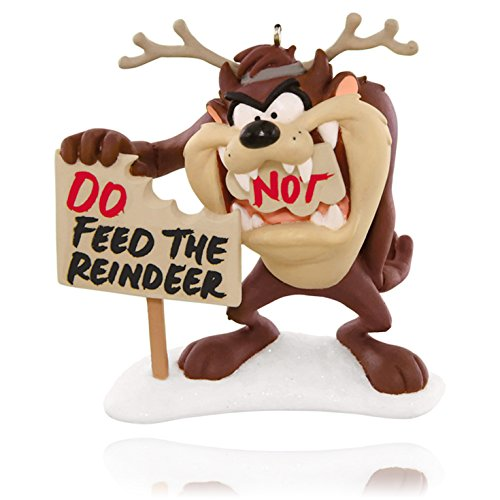 Hallmark Keepsake Ornament: LOONEY TUNES Feed the Reindeer Taz the Tasmanian Devil