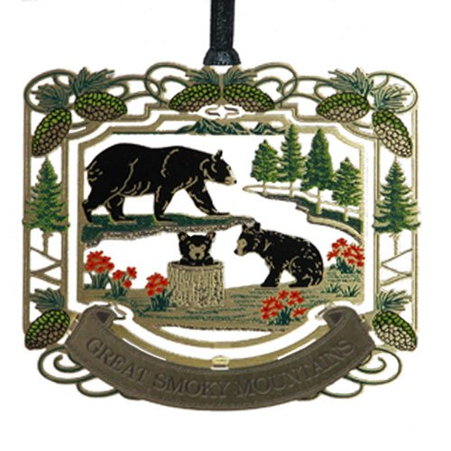 Smoky Mountain Black Bears Ornament