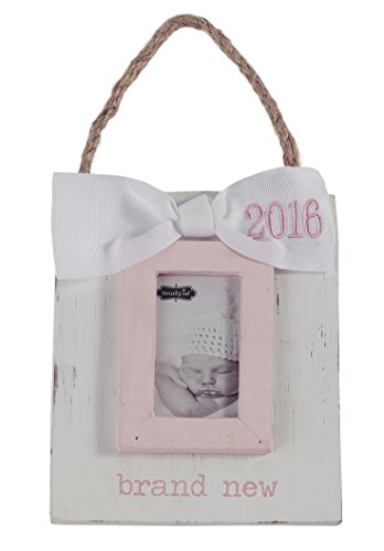 Mud Pie Brand New Baby Ornament Frame, Pink, 3″ x 2″