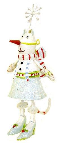 Department 56 Krinkles Snowlady Cat In Costume Mini Christmas Ornament #36621