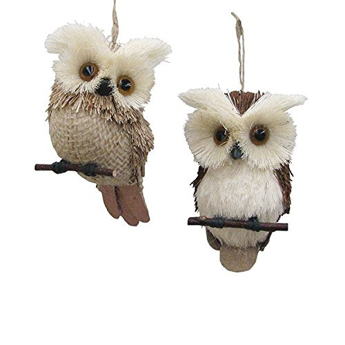 Kurt Adler 4.5″ Natural Owl Ornament 2/asstd.