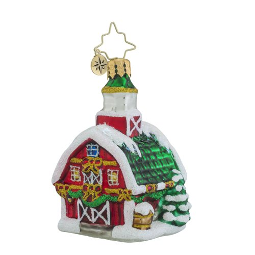 Christopher Radko Country Christmas Little Gem Cottage Ornament
