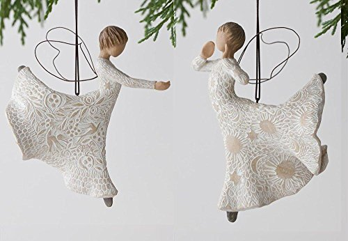 Willow Tree Song of Joy and Dance of Life Christmas Tree Ornament Set