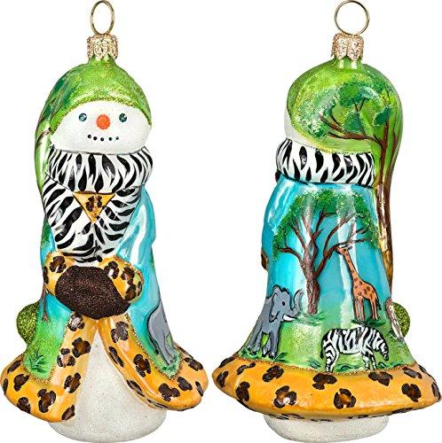 Glitterazzi Safari Snowman Ornament by Joy to the World
