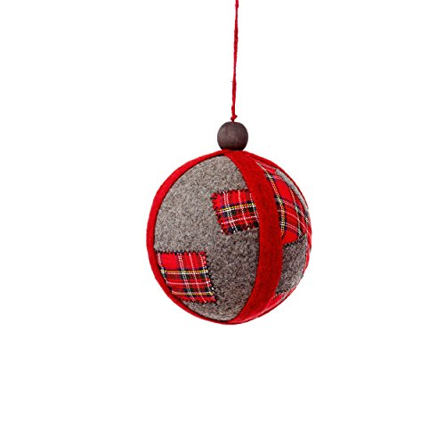 Sage & Co. XAO18766MU Patchwork Ball Ornament (6 Pack)