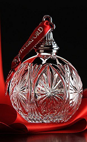 Waterford 2014 Clear Crystal Ball Ornament by Waterford
