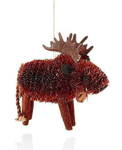 Holiday Lane 4″ x 4″ Buri Moose Hanging Ornament Set of 6