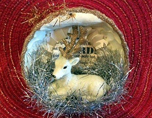 Holiday Lane 4″ Rustic Reindeer Resin Ornaments [Set of 5]