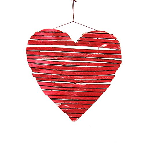 Sage & Co. XAO19733RD Twig Heart Ornament (6 Pack)
