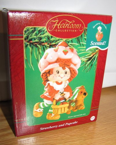 Strawberry Shortcake and Pupcake Christmas Ornament Mint in Box