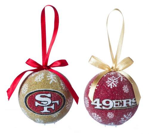 San Francisco 49ers Official NFL LED Box Set Ornaments by Evergreen Enterprises