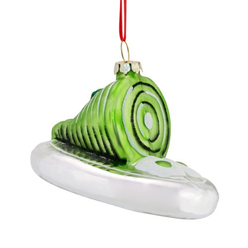 Department 56 Dr. Seuss Green Eggs Glass Ornament, 2-Inch