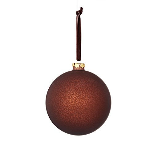 Sage & Co. XAO20182BR Glass Matte Finish Ball Ornament (4 Pack)
