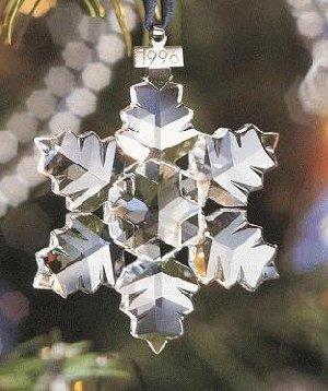 Swarovski Crystal 1996 Snowflake Ornament