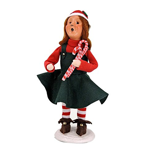 Byers' Choice Mitzi – Christmas Elf with Candy Canes of North Pole Collection #3825- New for 2016
