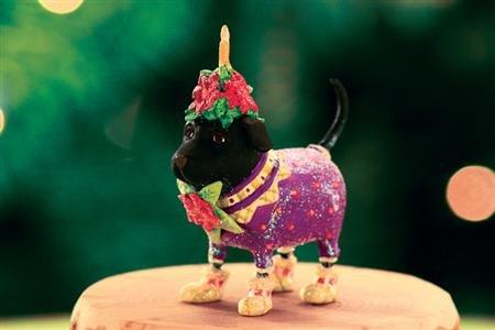Patience Brewster Mini Black Lab Ornament