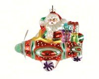 Cobane Studio LLC COBANEE353 Santa Airplane Ride Ornament