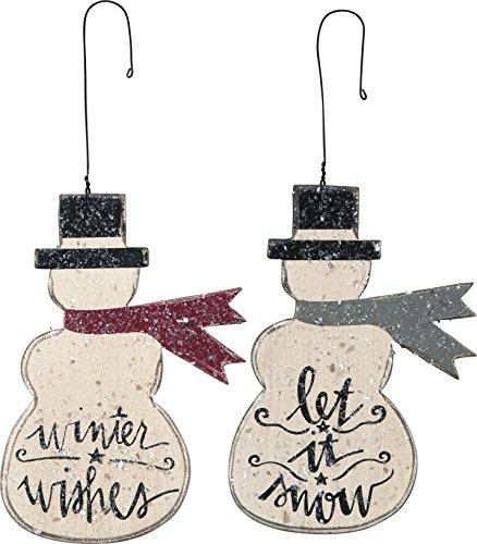 Let It Snow Ornaments Set of 2 Snowmen