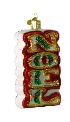 Old World Christmas Noel Glass Ornament