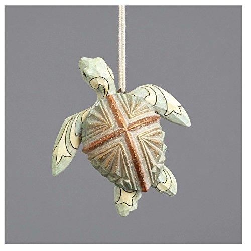 Enesco River's End Jim Shore Christmas Coastal Sea Turtle Ornament