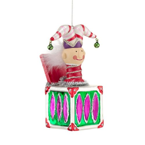 Department 56 Nutcracker Suite Treat Christmas Trim Jack in Box Ornament, 4.5-Inch