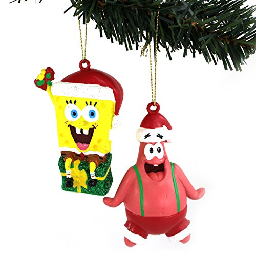 Spongebob and Patrick Kurt Adler Ornaments Gift Boxed (Spongebob & Patrick Santa)