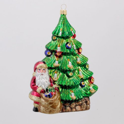 6″ David Strand Designs Glass Trimming the Tree Christmas Ornament