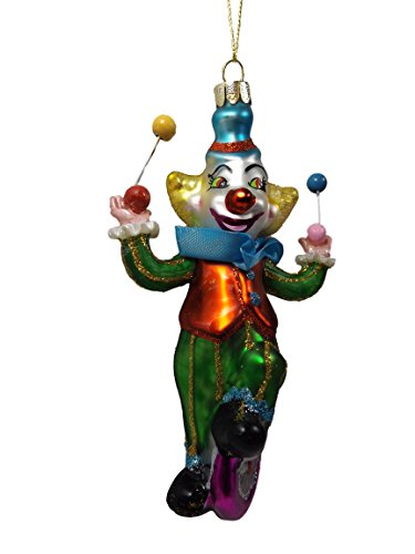 juggling Unicycle Riding Clown One Hundred 80 Degrees Christmas Ornament