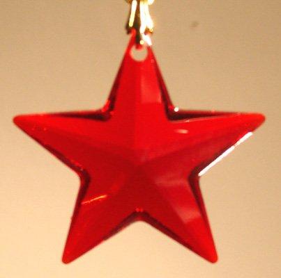 Swarovski 28mm Siam Crystal Star Prism
