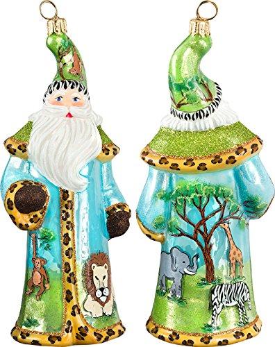 Glitterazzi Safari Santa Ornament by Joy to the World