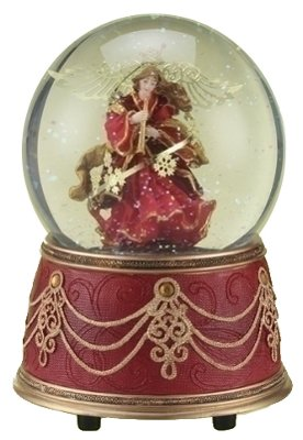 Roman Inc Red Velvet Angel Snow-Globe (34340)