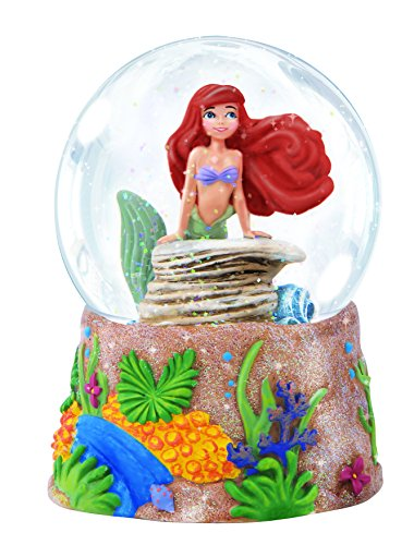 "Precious Moments, Disney Showcase Collection, ""Ariel"", Resin/Glass Musical Snow Globe, #143709"