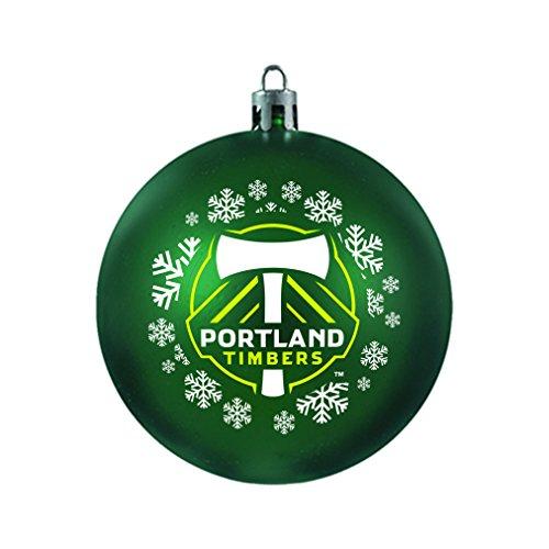 MLS Portland Timbers MLS Shatterproof Ball Ornament, Green, 3.125″